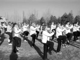 Group tai chi class outdoor